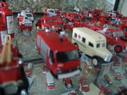 Miniaturas de frota automóvel de bombeiros são atração no Museu do Bombeiro