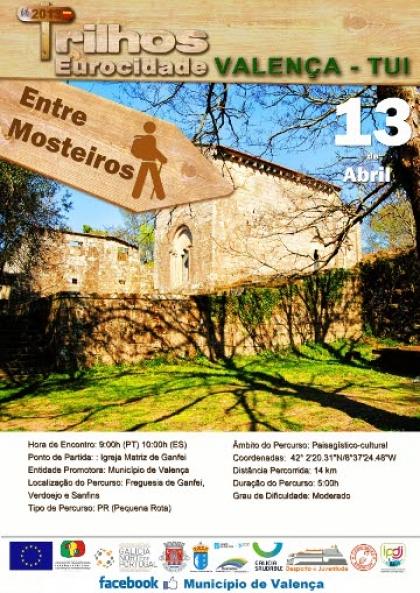 Autarquia promove mais um trilho pedestrecom visita ao Convento Beneditino de Ganfei