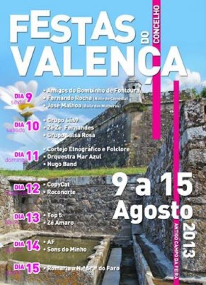 Festas do Concelho de Valença entre 9 e 15 deste mês