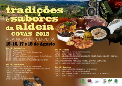 Festa das Tradições e Sabores da Aldeia em Covas