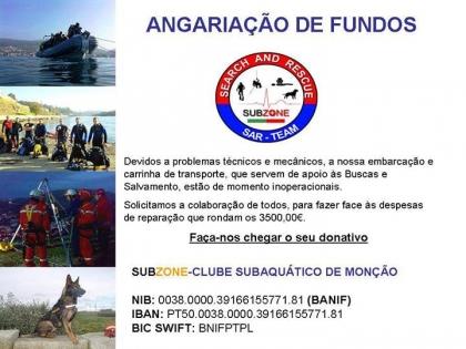 Clube Subaquático precisa de 3.500 euros para reparar duas viaturas de apoio às buscas e salvamento