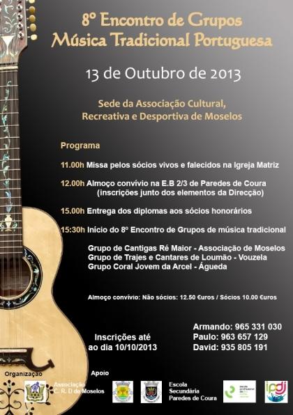 Paixão pela música tradicional portuguesa junta algumas centenas de pessoas em Mozelos