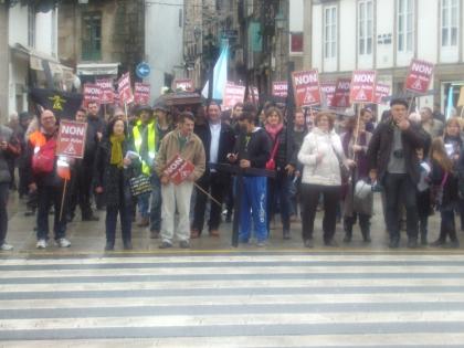 Manifestação contra linha de alta tensão em Santiago: Monçanenses admitem iniciativa idêntica do lado de cá
