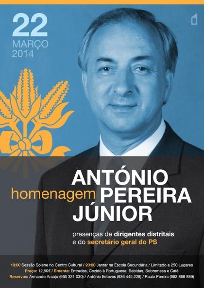 António Pereira Júnior vai ser homenageado esta noite