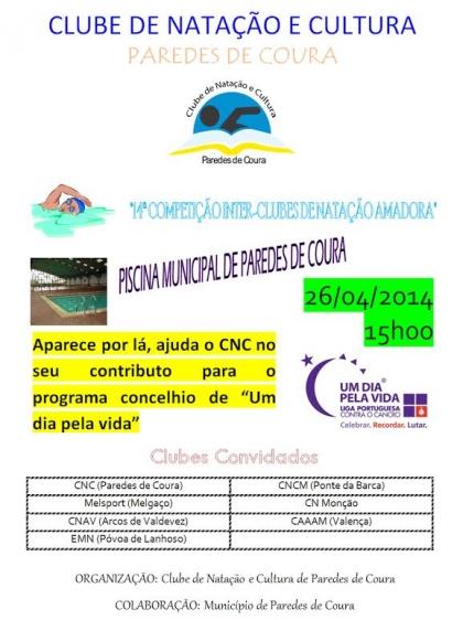 Piscina Municipal recebe 14ª competição inter-clubes de natação amadora