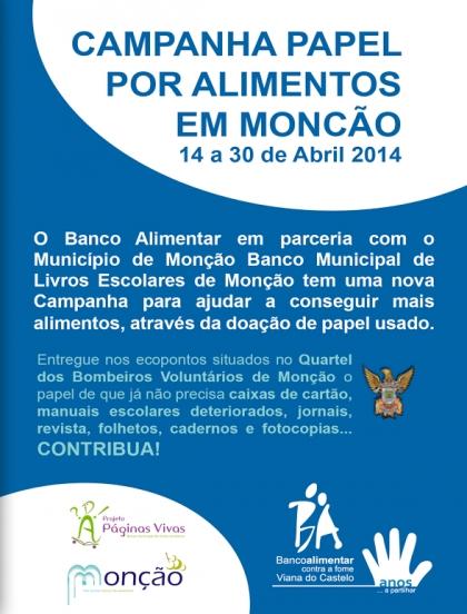 """Campanha """"Papel por Alimentos"""" arrancou hoje em Monção"""