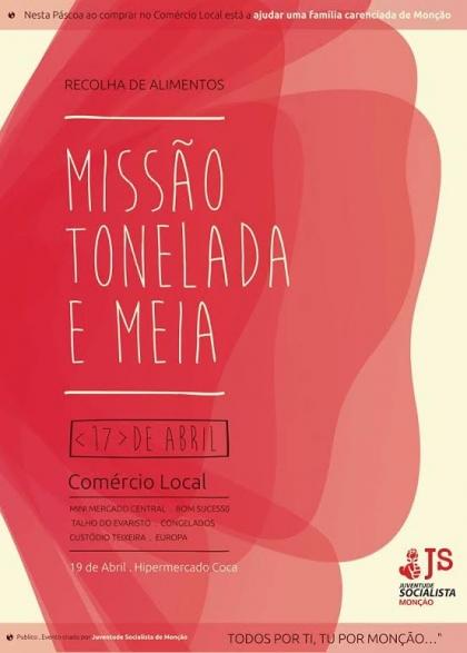 JS Monção está a realizar campanha de recolha de alimentos