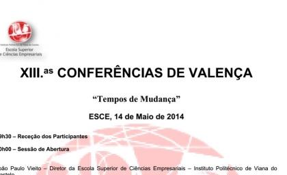 Conferências de Valença realizam-se dia 14 de Maio
