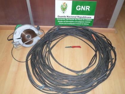 Valença: GNR deteve suspeito de roubo de metais não preciosos