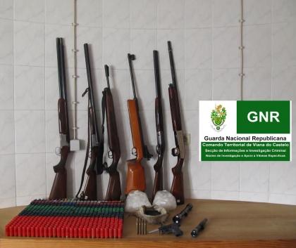 Monção: GNR apreende várias armas e munições