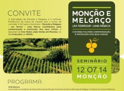 Monção: Cine Teatro João Verde recebe este sábado seminário em defesa do Alvarinho