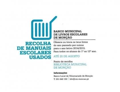 Monção: Câmara entrega esta sexta-feira manuais escolares recolhidos pelo Banco Municipal