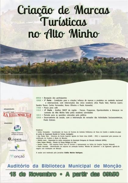 Monção: Biblioteca Municipal recebe mesa-redonda sobre Criação de Marcas Turísticas no Alto Minho