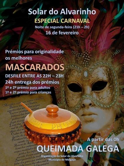 Melgaço: Solar do Alvarinho recebe festa de Carnaval na próxima segunda-feira