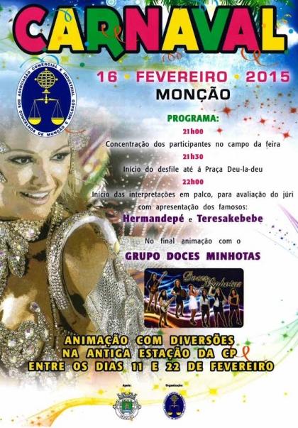 Monção: Carnaval invade a vila a partir desta segunda-feira