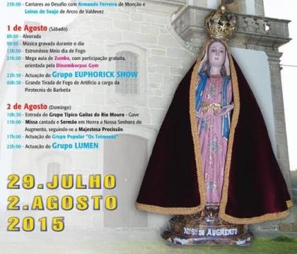 Monção: Longos Vales recebe festa de Nossa Senhora do Augmento a partir de 29 de julho