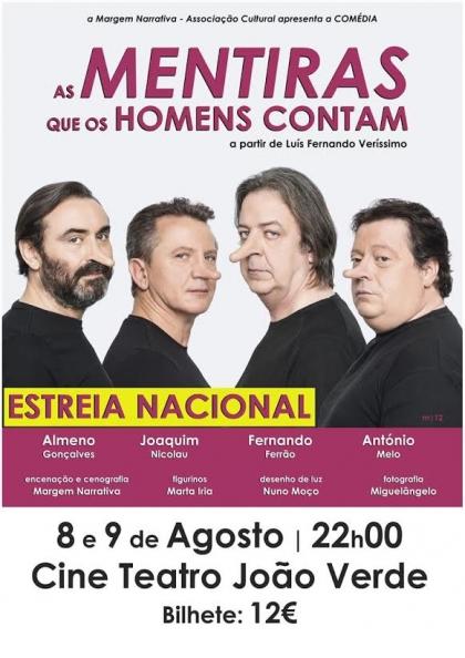 Monção: Cine Teatro João Verde recebe 'As mentiras que os homens contam'