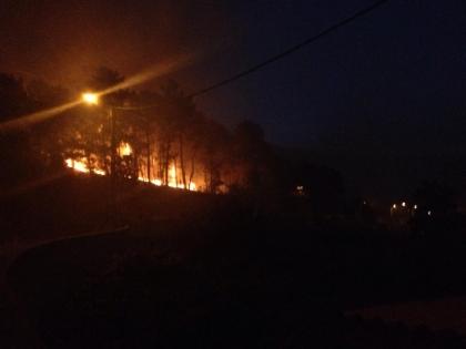 Cerveira: Incêndio de Candemil lavra há mais de 12 horas - Três frentes continuam ativas