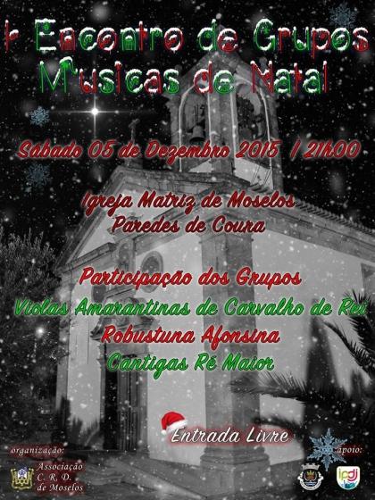 Paredes de Coura: Igreja de Moselos recebe encontro de Músicas de Natal no dia 5 de dezembro