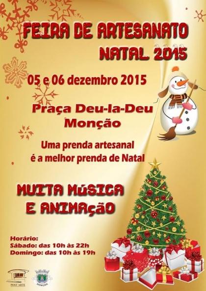 Monção: Praça Deu-la-Deu acolhe Feira de Artesanato de Natal este fim-de-semana