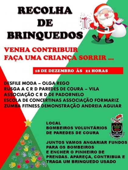 Paredes de Coura: Bombeiros Voluntários realizam recolha de brinquedos na próxima sexta-feira