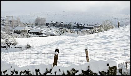 Melgaço: Neve já cai em Lamas de Mouro e Castro Laboreiro