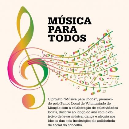 Monção: 'Música para Todos' começa no próximo sábado - Grupos vão levar música aos idosos