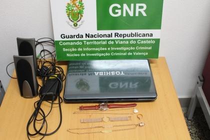 Valença/Gondomil: Detido suspeito de roubo em estabelecimento comercial