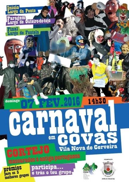 Cerveira: Cortejo de Carnaval invade freguesia de Covas este domingo