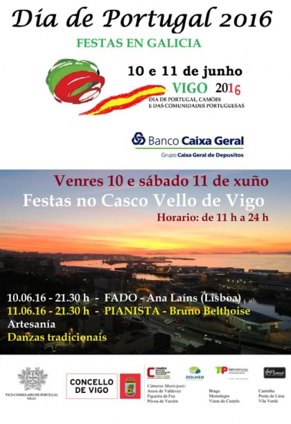 Valença vai estar presente nas comemorações do Dia de Portugal em Vigo