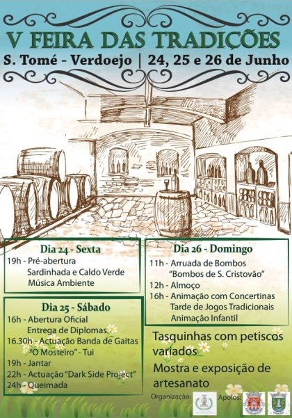 Valença: Verdoejo recebe V Feira das Tradições no próximo fim-de-semana