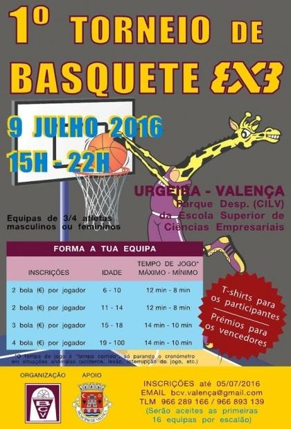 Valença: Parque da Escola de Ciências Empresariais acolhe Torneio de Basquetebol 3x3 no sábado