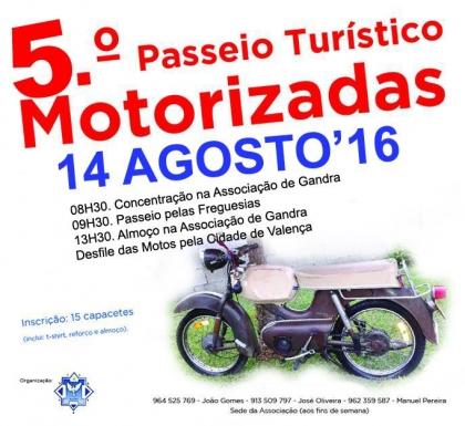 Valença: Gandra acolhe 5º Passeio Turístico de Motorizadas no dia 14 de agosto