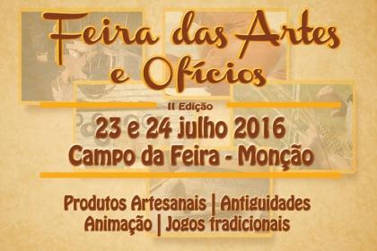 Monção: Campo da Feira recebe Feira das Artes e Ofícios este fim-de-semana