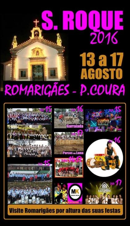 Paredes de Coura: Romarigães recebe festas de São Roque entre 13 e 17 de Agosto