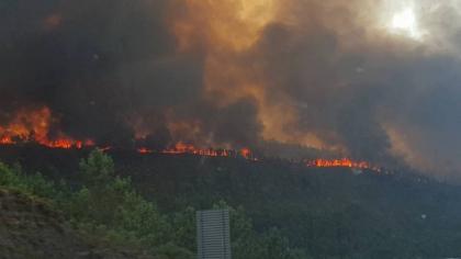 Paredes de Coura/Rubiães: Incêndio 'com mais de 20 quilómetros de frente'