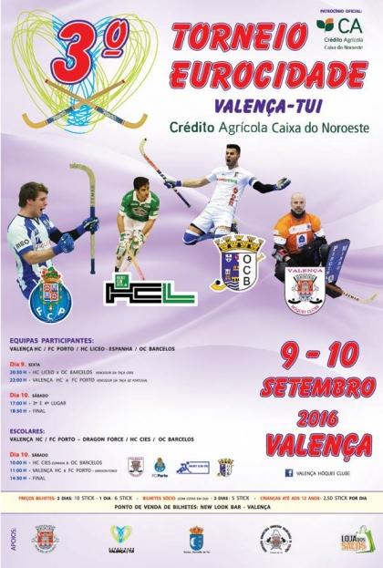 Valença/Hóquei: Pavilhão Municipal recebe 3º Torneio Eurocidade dias 9 e 10 de setembro