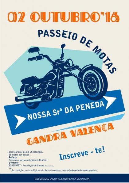 Valença: Associação de Gandra realiza Passeio de Motas no dia 2 de Outubro