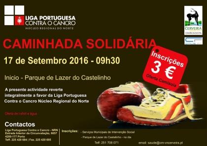 Cerveira: Parque de Lazer do Castelinho acolhe Caminhada Solidária no sábado