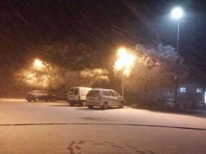 Melgaço: Neve já está a cair em Castro Laboreiro - Estradas ainda todas transitáveis