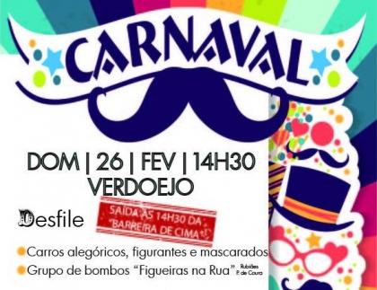 Valença/Verdoejo: Associação Cultural realiza Festa de Carnaval no dia 26