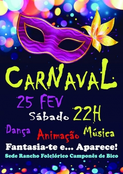 Paredes de Coura: Rancho Folclórico de Bico realiza festa de Carnaval no sábado