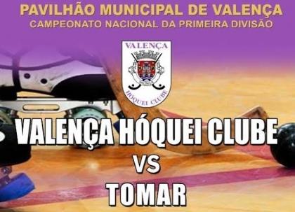 Valença Hóquei Clube e Tomar jogam este sábado