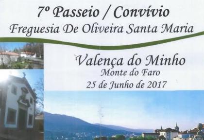 Valença: Monte do Faro acolhe passeio/convívo de turistas famalicenses este domingo