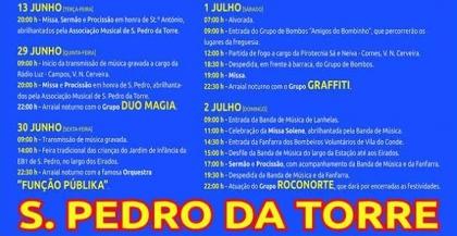 Valença: São Pedro da Torre festeja padroeiro este fim-de-semana