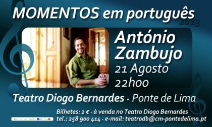 António Zambujo no Teatro Diogo Bernardes