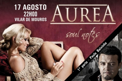 Aurea ao vivo em Vilar de Mouros esta noite