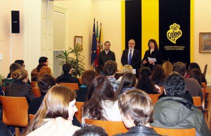 Executivo municipal recebeu setenta alunos de Erasmus