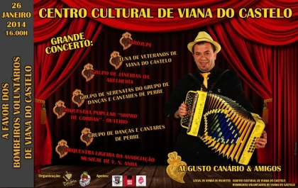 Centro Cultural recebe espetáculo solidário com Canário