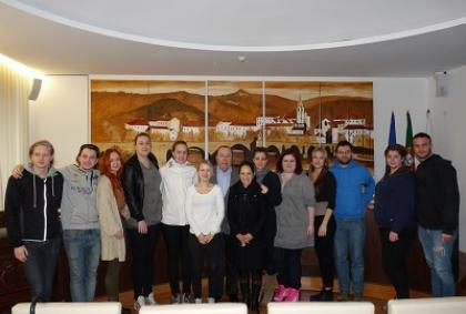 Câmara recebeu alunos italianos e suecos